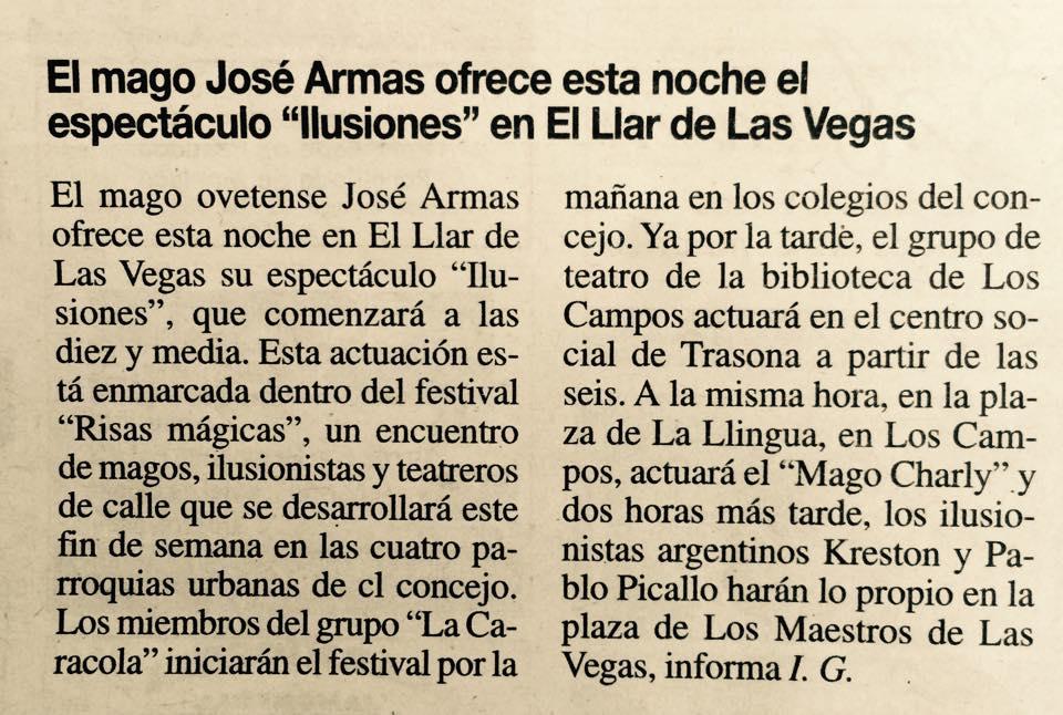 El ilusionista espect culo de jos armas la nueva for Noticias del espectaculo mexicano recientes